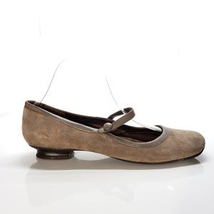 Naturalizer Tan Suede Mary Jane Flats Size 7.5!
